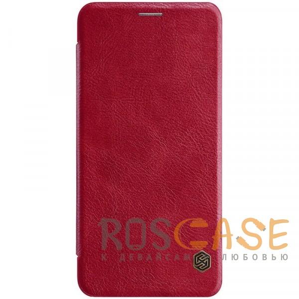 Фото Красный Nillkin Qin натур. кожа | Чехол-книжка для Samsung A705F Galaxy A70