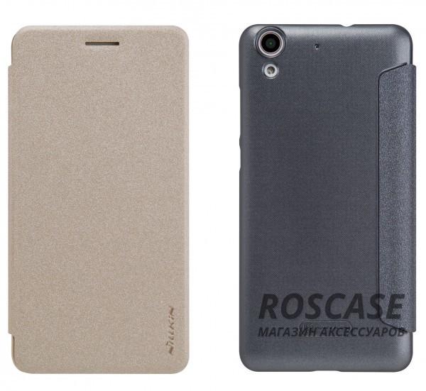 Кожаный чехол (книжка) Nillkin Sparkle Series для Huawei Y6 IIОписание:компания -&amp;nbsp;Nillkin;разработан для Huawei Y6 II;материалы  -  синтетическая кожа, поликарбонат;форма  -  чехол-книжка.&amp;nbsp;Особенности:защищает со всех сторон;имеет все необходимые вырезы;легко чистится;функция Sleep mode;не увеличивает габариты;защищает от ударов и царапин;блестящая поверхность.<br><br>Тип: Чехол<br>Бренд: Nillkin<br>Материал: Искусственная кожа
