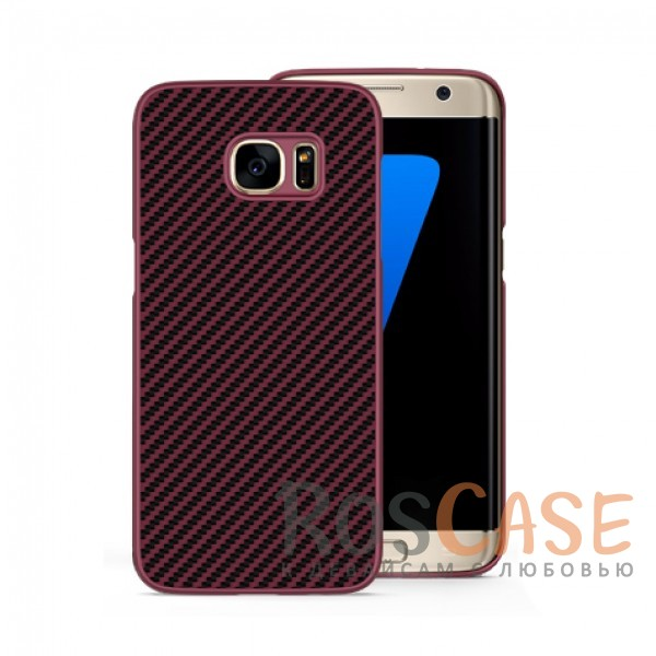 Пластиковая накладка Nillkin Synthetic Fiber series для Samsung G935F Galaxy S7 Edge (Красный)<br><br>Тип: Чехол<br>Бренд: Nillkin<br>Материал: Пластик