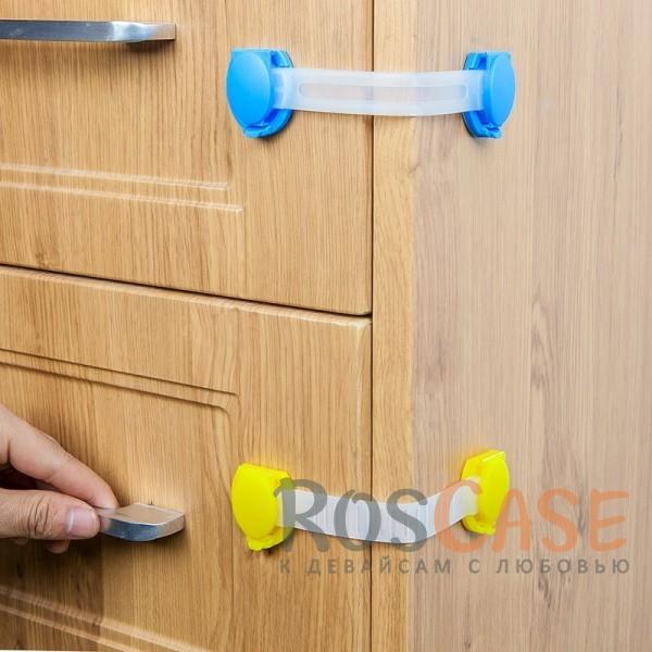 Гибкий замок на дверцы для защиты детокОписание:защита от детей;материал - нетоксичный пластик;можно устанавливать на мебель и бытовую технику;клейкая основа;регулируемая длина;размеры: 3,4*15 см.&amp;nbsp;&amp;nbsp;&amp;nbsp;<br><br>Тип: Общие аксессуары<br>Бренд: Epik