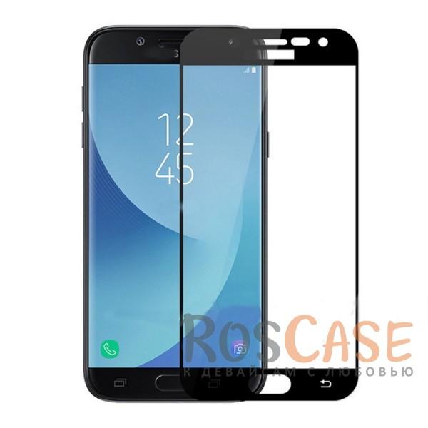 Фото Черный Silk Screen   Защитное стекло 2,5D для Samsung J330 Galaxy J3 (2017)