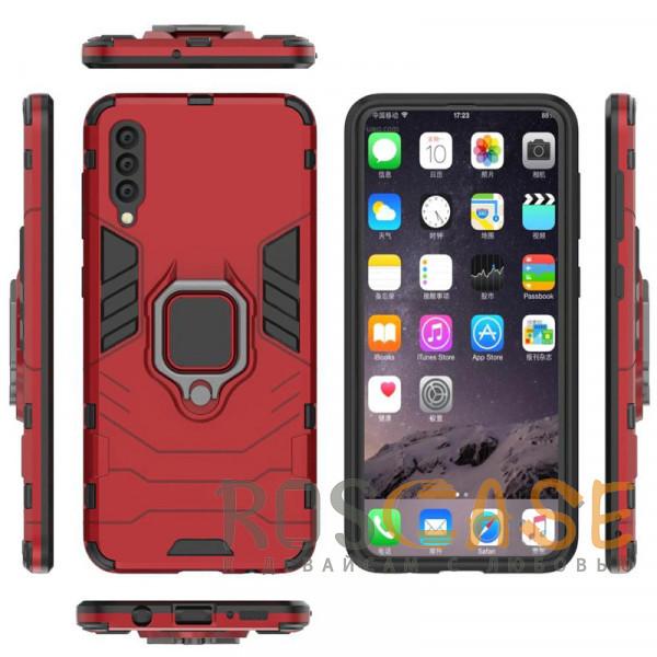 Фото Красный / Dante Red Ударопрочный чехол Transformer Ring под магнитный держатель для Samsung Galaxy A50 / A50s / A30s