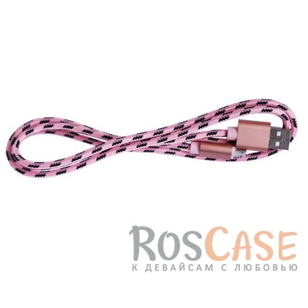 Дата кабель microUSB плетеный Earldom (1m) (Розовый / Rose Gold)Описание:совместимость: устройства с разъемом microUSB;материалы: PVC, TPE;производитель: Earldom;тип: кабель.&amp;nbsp;Особенности:разъемы: microUSB, USB;для подключения к устройствам с разъемом microUSB;высокая скорость передачи данных;плетеная оплетка кабеля;прочный;длина  -  1 метр.<br><br>Тип: USB кабель/адаптер<br>Бренд: Epik