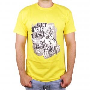 "Muscle Rabbit   Мужская футболка с принтом качка ""Get big fast"""