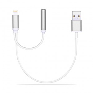 Apple | Переходник Lightning to 3.5mm Jack+USB