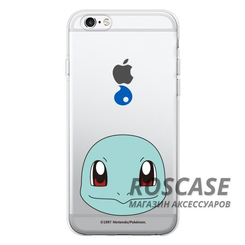 """Фото Squirtle / face Прозрачный силиконовый чехол """"Pokemon Go"""" для Apple iPhone 6/6s (4.7"""")"""