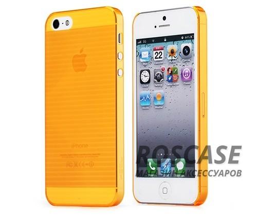 Пластиковая накладка Rock (Texture) Ultra Thin series для Apple iPhone 5/5S/SE (Оранжевый / Transparent Orange)Описание:компания-производитель: ROCK;совместим Apple iPhone 5/5S/5SE;используемые материалы: поликарбонат;форма чехла: накладка.&amp;nbsp;Особенности:оригинальный дизайн;прочный материал немецкого производства;амортизирующие свойства;полный набор функциональных прорезей;тонкое исполнение.<br><br>Тип: Чехол<br>Бренд: ROCK<br>Материал: Пластик