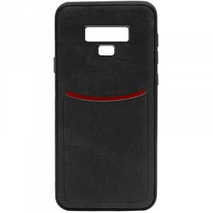 ILEVEL | Чехол с кожаным покрытием и с карманом-визитницей для Samsung Galaxy Note 9