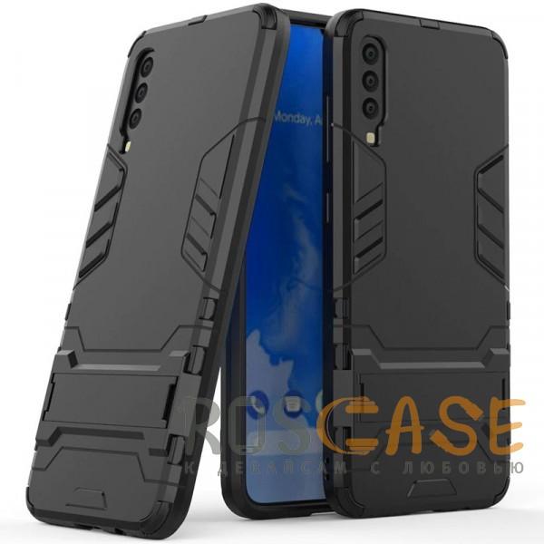 Фото Черный / Soul Black Transformer | Противоударный чехол для Samsung A705F Galaxy A70 с мощной защитой корпуса
