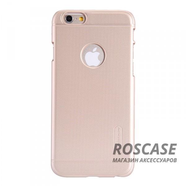 Чехол Nillkin Matte для Apple iPhone 6/6s (4.7) (+ пленка) (Золотой)Описание:производитель  -  фирма Nillkin;разработан специально для Apple iPhone 6/6s (4.7);материал  -  пластик;форма  -  накладка.&amp;nbsp;Особенности:матовая ребристая поверхность;имеет все функциональные вырезы;легко чистится;тонкий дизайн не увеличивает габариты;защищает от механических воздействий;пленка в комплекте;не скользит в руках.<br><br>Тип: Чехол<br>Бренд: Nillkin<br>Материал: Поликарбонат