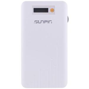 SunPin D90 | Портативное зарядное устройство Power Bank с дисплеем (9000mAh 1USB + встроенный кабель microUSB)