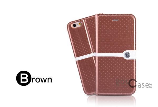 Кожаный чехол (книжка) Nillkin Ice Series для Apple iPhone 6/6s (4.7) (+ пленка) (Коричневый)Описание:разработка и производство компании&amp;nbsp;Nillkin;совместим с Apple iPhone 6/6s (4.7);изготовлен из искусственной кожи и полиуретана;гладкая поверхность;тип конструкции  -  чехол-книжка;&amp;nbsp;Особенности:внутренняя часть отделана микрофиброй;ультратонкий;пленка в комплекте;транформируется в подставку;насыщенная цветовая палитра;повышенная износоустойчивость.<br><br>Тип: Чехол<br>Бренд: Nillkin<br>Материал: Искусственная кожа