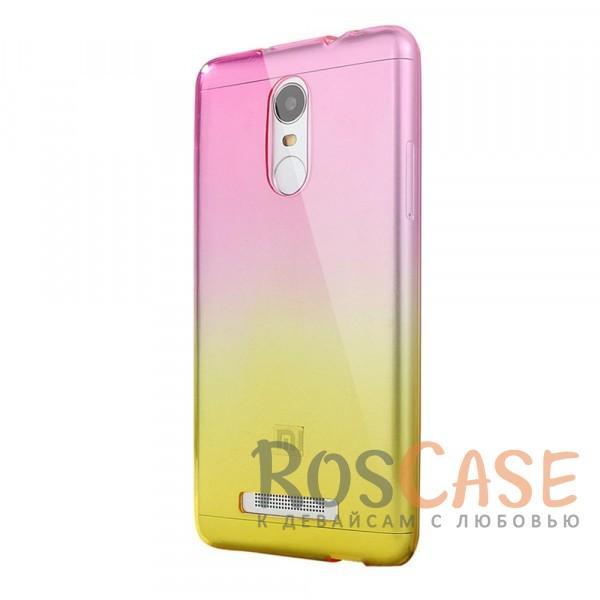 Прозрачный TPU чехол с цветным градиентом для Xiaomi Redmi Note 4 (Розовый / Желтый)<br><br>Тип: Чехол<br>Бренд: Epik<br>Материал: TPU