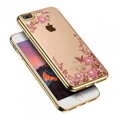"Прозрачный чехол со стразами для Apple iPhone 7 Plus (5.5"") с глянцевым бампером"