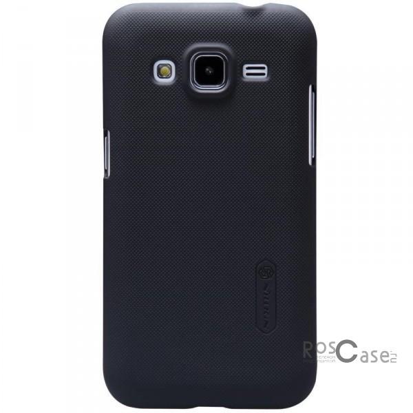 Чехол Nillkin Matte для Samsung G360H/G361H Galaxy Core Prime Duos (+ пленка) (Черный)Описание:Чехол изготовлен компанией&amp;nbsp;Nillkin;Спроектирован для Samsung G360H/G361H Galaxy Core Prime Duos;Материал  -  поликарбонат;Форма  -  накладка.Особенности:Исключено появление потертостей и возникновение царапин;В комплекте поставляется глянцевая бесцветная пленка;Имеет текстурную матовую поверхность;Выполнен в изысканном классическом стиле.<br><br>Тип: Чехол<br>Бренд: Nillkin<br>Материал: Поликарбонат