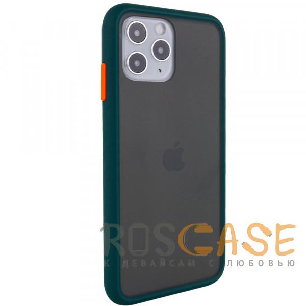 Фотография Темно-зеленый Противоударный матовый полупрозрачный чехол для iPhone 12 / 12 Pro