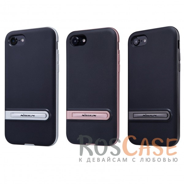 Стильно-модно-молодёжный чехол Nillkin Youth с подставкой для Apple iPhone 7 / 8 (4.7)Описание:бренд&amp;nbsp;Nillkin;совместим с Apple iPhone 7 / 8 (4.7);материалы - термополиуретан, поликарбонат;функция подставки;свойство анти-отпечатки;защита камеры от царапин;все вырезы предусмотрены;кнопки защищены.<br><br>Тип: Чехол<br>Бренд: Nillkin<br>Материал: Пластик