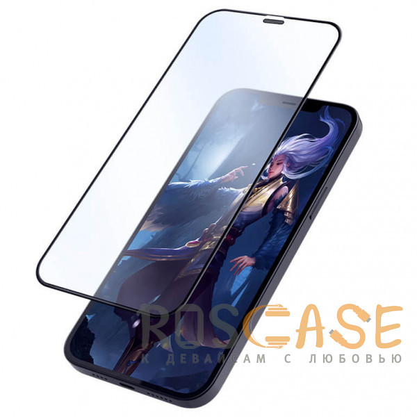 Фотография Черное Nillkin FogMirror | Защитное матовое закаленное стекло для iPhone 12 Pro Max