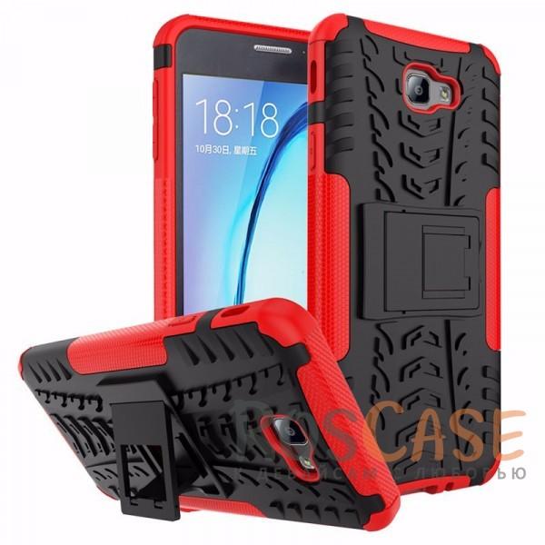 Противоударный двухслойный чехол Shield Samsung G570F Galaxy J5 Prime (2016) с подставкой (Красный)Описание:совместим с Samsung G570F Galaxy J5 Prime (2016);удобная функция подставки;материал - поликарбонат, термополиуретан;тип - накладка.<br><br>Тип: Чехол<br>Бренд: Epik<br>Материал: TPU