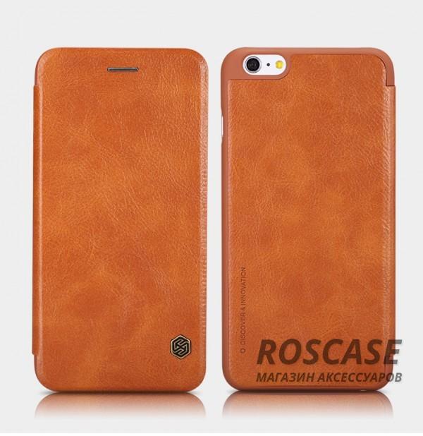 Кожаный чехол (книжка) Nillkin Qin Series для Apple iPhone 6/6s (4.7) (Коричневый)Описание:производитель:&amp;nbsp;Nillkin;совместим с Apple iPhone 6/6s (4.7);материал: натуральная кожа;тип: чехол-книжка.&amp;nbsp;Особенности:слот для визиток;ультратонкий;фактурная поверхность;внутренняя отделка микрофиброй.<br><br>Тип: Чехол<br>Бренд: Nillkin<br>Материал: Натуральная кожа