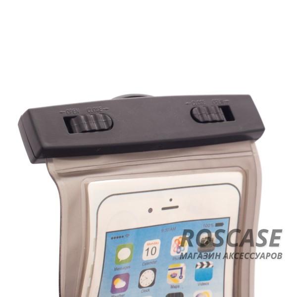 Водонепроницаемый пластиковый чехол для телефона 3.5-5.5 дюйма (Черный)