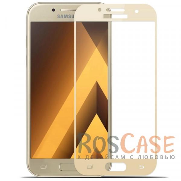 Защитное стекло с цветной рамкой на весь экран с олеофобным покрытием анти-отпечатки для Samsung A720 Galaxy A7 (2017) (Золотой)Описание:компания&amp;nbsp;Epik;совместимо с Samsung A720 Galaxy A7 (2017);материал: закаленное стекло;тип: защитное стекло на экран.Особенности:полностью закрывает дисплей;толщина - 0,3 мм;цветная рамка;прочность 9H;покрытие анти-отпечатки;защита от ударов и царапин.<br><br>Тип: Защитное стекло<br>Бренд: Epik