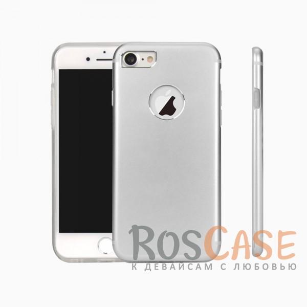 Гибридный защитный чехол из алюминия аналогичного материалу корпуса c силиконовым внутренним слоем для Apple iPhone 7 / 8 (4.7) (Серебряный)Описание:разработан для Apple iPhone 7 / 8 (4.7);материалы - металл, термополиуретан;для изготовления использован такой же металл, как и при производстве корпуса смартфона;двухслойная конструкция;матовый на ощупь;на нем не заметны отпечатки пальцев;тип - накладка;предусмотрены все необходимые вырезы.<br><br>Тип: Чехол<br>Бренд: Epik<br>Материал: TPU