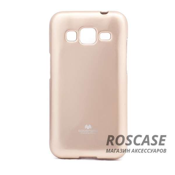 TPU чехол Mercury Jelly Color series для Samsung G360H/G361H Galaxy Core Prime Duos (Золотой)Описание:компания разработчик: Mercury;совместимость с устройством модели: Samsung G360H/G361H Galaxy Core Prime Duos;материал изделия: термопластический полиуретан;конфигурация: накладка.Особенности:ультратонкий, не увеличивает визуально объем;имеет механизм легкой фиксации;в наличии все функциональные вырезы;легко очищается от загрязнений.<br><br>Тип: Чехол<br>Бренд: Mercury<br>Материал: TPU