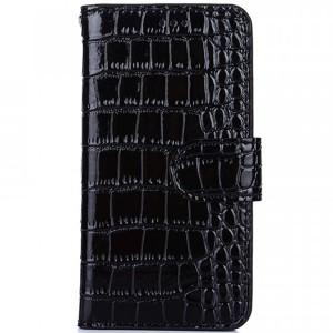 Лаковый рельефный чехол-книжка с текстурой кожи и магнитной застёжкой для OnePlus 3 / OnePlus 3T