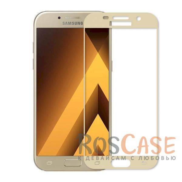 Прочное противоударное стекло на весь экран с дополнительной защитой краев для Samsung A520 Galaxy A5 (2017) (Золотой)Описание:совместимо с Samsung A520 Galaxy A5 (2017);выпуклое, 3D-дизайн;защита от царапин и ударов;ультратонкое - 0,3 мм;цветная рамка;не влияет на чувствительность сенсора;предусмотрены все необходимые вырезы.<br><br>Тип: Защитное стекло<br>Бренд: Epik