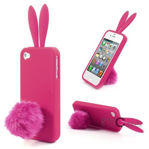 """фото силиконовый чехол """"Ушки и хвостик"""" для Apple iPhone 4/4S"""