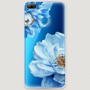 RosCase | Силиконовый чехол Голубые клематисы на Huawei Honor 9 Lite