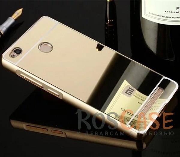 Металлический бампер с акриловой вставкой с зеркальным покрытием для Xiaomi Redmi 3 Pro / Redmi 3s (Золотой)Описание:разработан для Xiaomi Redmi 3 Pro / Redmi 3s;материалы - металл, акрил;тип - бампер с задней панелью.<br><br>Тип: Чехол<br>Бренд: Epik<br>Материал: Металл