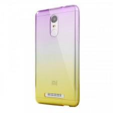 Прозрачный TPU чехол с цветным градиентом  для Xiaomi Redmi Note 4 (MediaTek)