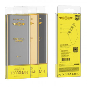 Портативное зарядное устройство Power Bank Borofone BT19A (метал) 15000mAh  для iPhone 4/4S