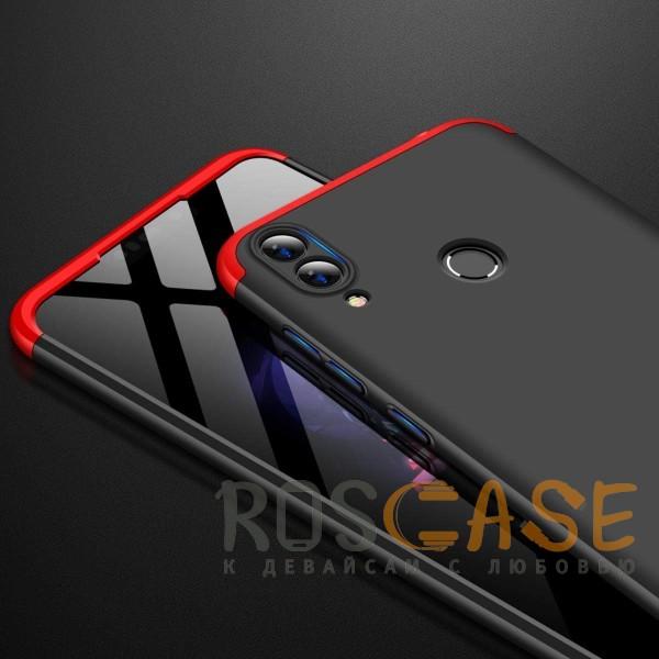 Фото Черный / Красный GKK LikGus 360° | Двухсторонний чехол для Huawei Honor 8C с защитными вставками