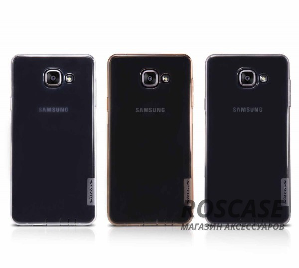 TPU чехол Nillkin Nature Series для Samsung A710F Galaxy A7 (2016)Описание:производитель  -  бренд&amp;nbsp;Nillkin;совместим с Samsung A710F Galaxy A7 (2016);материал  -  термополиуретан;тип  -  накладка.&amp;nbsp;Особенности:в наличии все вырезы;не скользит в руках;тонкий дизайн;защита от ударов и царапин;прозрачный.<br><br>Тип: Чехол<br>Бренд: Nillkin<br>Материал: TPU
