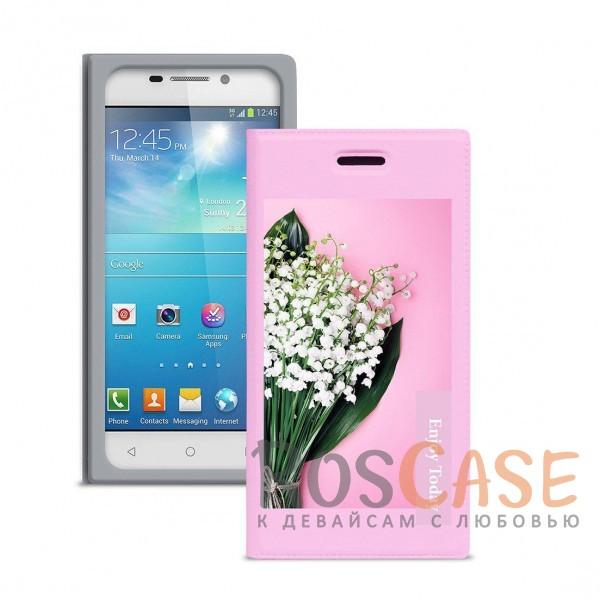 Универсальный женский чехол-книжка Gresso с принтом цветка Миранда Ландыш для смартфона с диагональю 4,2-4,5 дюйма (Розовый)Описание:совместимость -&amp;nbsp;смартфоны с диагональю&amp;nbsp;4,2-4,5 дюйма;материал - искусственная кожа;тип - чехол-книжка;предусмотрены все необходимые вырезы;защищает девайс со всех сторон;цветочный рисунок;ВНИМАНИЕ:&amp;nbsp;убедитесь, что ваша модель устройства находится в пределах максимального размера чехла.&amp;nbsp;Размеры чехла: 130*66 мм.<br><br>Тип: Чехол<br>Бренд: Gresso<br>Материал: Искусственная кожа