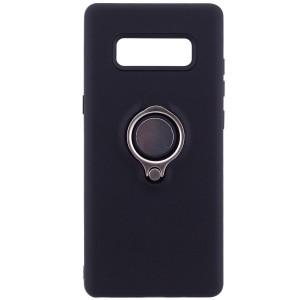 Deen | Матовый чехол для Samsung Galaxy Note 8 с креплением под магнитный держатель и кольцом-подставкой