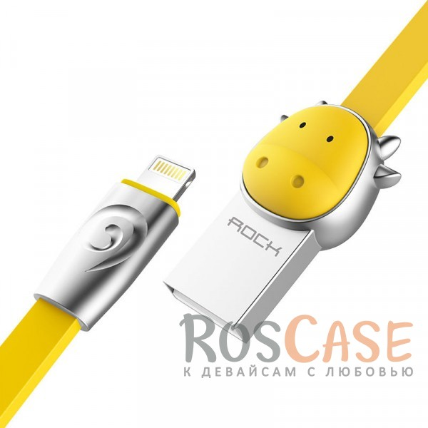 Фото Cow-Yellow ROCK Chinese Zodiac | Кабель Lightning для Apple iPhone 5/5s/5c/SE/6/6 Plus/6s/6s Plus /7/7 Plus 1m