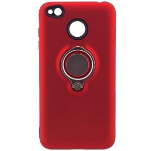 Deen | Матовый чехол для Xiaomi Redmi 4X с креплением под магнитный держатель и кольцом-подставкой