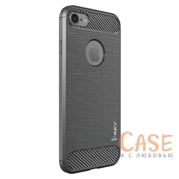 Стильный чехол с карбоновыми вставками iPaky (original) Slim для Apple iPhone 7 / 8 (4.7) (Серый)Описание:бренд - iPaky;совместим с Apple iPhone 7 / 8 (4.7);материал: термополиуретан;тип: накладка.Особенности:эластичный;свойство анти-отпечатки;защита углов от ударов;ультратонкий;защита боковых кнопок;надежная фиксация.<br><br>Тип: Чехол<br>Бренд: iPaky<br>Материал: TPU