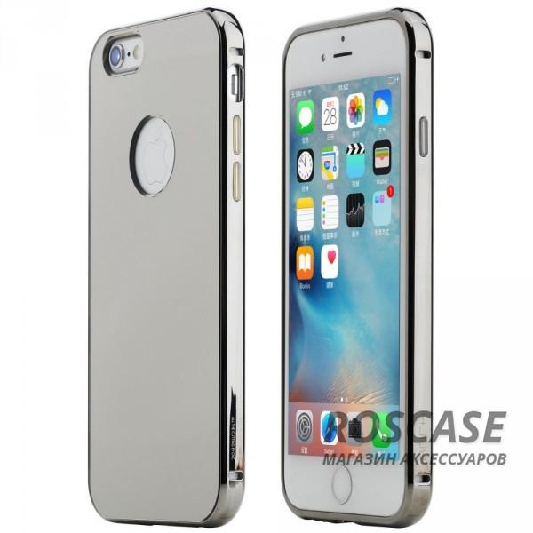 Алюминиевая накладка Rock Infinite Series (Mirror) для Apple iPhone 6/6s plus (5.5) (Серый / Grey)Описание:компания производитель:&amp;nbsp;Rock;точное соответствие с Apple iPhone 6/6s plus (5.5);изготовление: металл в сочетании с акрилом;вид изделия: накладка.Особенности:великолепное сочетание прочных материалов;большая палитра оттенков;стиль и красота;не выпадает из рук.<br><br>Тип: Чехол<br>Бренд: ROCK<br>Материал: Металл