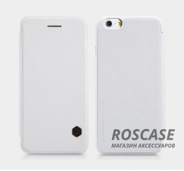 Кожаный чехол (книжка) Nillkin Qin Series для Apple iPhone 6/6s (4.7) (Белый)Описание:производитель:&amp;nbsp;Nillkin;совместим с Apple iPhone 6/6s (4.7);материал: натуральная кожа;тип: чехол-книжка.&amp;nbsp;Особенности:слот для визиток;ультратонкий;фактурная поверхность;внутренняя отделка микрофиброй.<br><br>Тип: Чехол<br>Бренд: Nillkin<br>Материал: Натуральная кожа