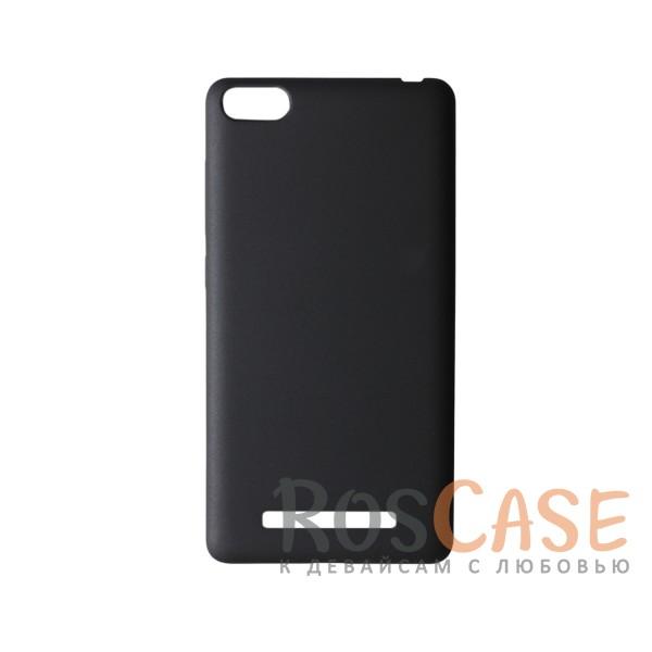 Пластиковая накладка soft-touch с защитой торцов Joyroom для Xiaomi Mi 4i / Mi 4c (Черный)<br><br>Тип: Чехол<br>Бренд: Epik<br>Материал: Пластик