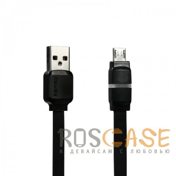 Изображение Черный Remax RC-029 | Плоский дата кабель с разъемом MicroUSB (100 см)