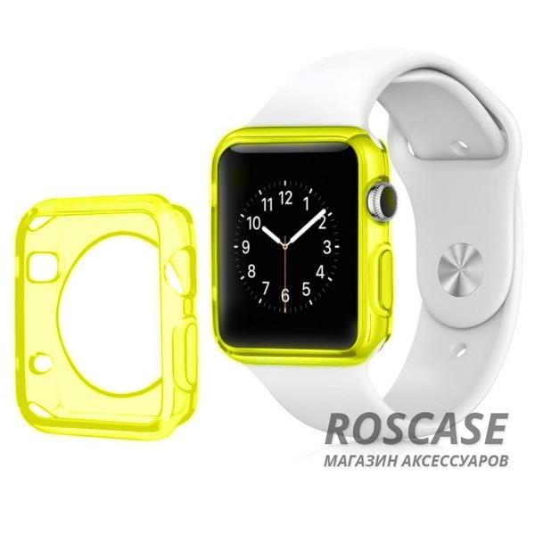 TPU чехол для Apple watch 38mm (Желтый (матово/прозрачный))Описание:производитель - бренд&amp;nbsp;Epik;разработан для&amp;nbsp;Apple watch 38mm;материал: термополиуретан;тип: накладка.Особенности:тонкий дизайн;легкая фиксация;защита от царапин;эластичный;не деформируется.<br><br>Тип: Чехол<br>Бренд: Epik<br>Материал: TPU