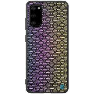 Nillkin Twinkle Rainbow | Чехол с текстурной тканевой вставкой  для Samsung Galaxy S20
