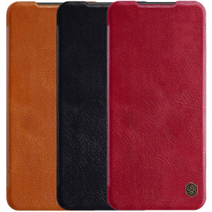 Nillkin Qin | Чехол-книжка из Premium экокожи для Xiaomi Redmi Note 9 Pro (Max) / Note 9S