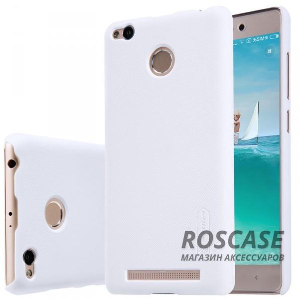 Чехол Nillkin Matte для Xiaomi Redmi 3 Pro / Redmi 3s (+ пленка) (Белый)Описание:производитель  -  бренд&amp;nbsp;Nillkin;совместим с Xiaomi Redmi 3 Pro / Redmi 3s;материал  -  пластик;форма  -  накладка.&amp;nbsp;Особенности:в наличии все функциональные вырезы;рельефная поверхность;тонкий дизайн не увеличивает габариты;пленка в комплекте;защита от механических повреждений;на чехле не видны отпечатки пальцев.<br><br>Тип: Чехол<br>Бренд: Nillkin<br>Материал: Поликарбонат